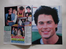 Rob Lowe Rosanna Arquette Stephanie Carola Tone Norum clippings Sweden 1980s