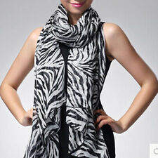 Fashion Trendy Long Zebra Printed Chiffon Scarf Women Girls shawl Soft Smooth BY