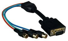 Component RGB YUV 3 RCA Female To D-sub 15-Pin VGA Video Adapter Cable