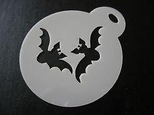 Corte láser pequeños murciélagos Diseño Pastel, Cookie, artesanía y plantilla de Pintura de cara