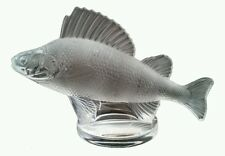 LALIQUE Perche Fish Hood Ornament Paperweight Signed Clear Frosted