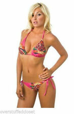 "NWT ED HARDY WHITE DEDICATED ""ONE I LOVE"" BIKINI SMALL"