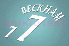 England Beckham #7 World Cup 2002 Awaykit Nameset Printing