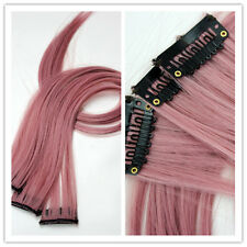 """10PC 20"""" 80g CLIP IN Synthetic Human Hair Extensions Straight Multi-Color DIY"""