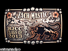 Custom Mortenson Rodeo Trophy Belt Awards Buckle Rhinestones Senior Class