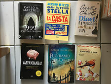 lotto 6 libri narrativa vera occasione christie galbraith