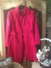Hot pink fall coat jacket trench-coat Sz S