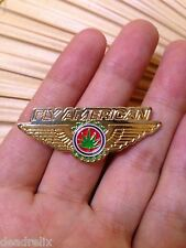 CLOSE OUT 10 PACK FLY AMERICAN PILOT WINGS GRATEFUL DEAD MARIHUANA 1 3/4 in PIN