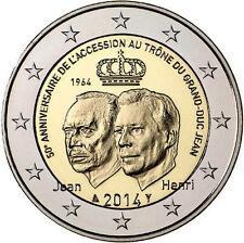 2 euro commemorativa Lussemburgo 2014 fior di conio