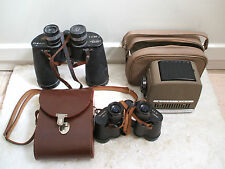Chinon 7x50 Binoculars With Noctovist 8X30 In Leather Case& Lucky Tiny Projector