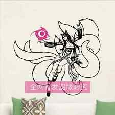 LoL League of Legends the Nine-Tailed Fox Ahri WALL STICKERS bedroom Bed Sticker
