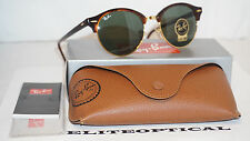New Authentic RAY BAN CLUBROUND Gold Tortoise/Classic G-15 RB4246 990 51-19