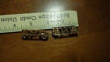 POLICE  COLLAR PINS T.P.D POLICE DEPARTMENT PINS GOLD COLOR   BX 0 #14