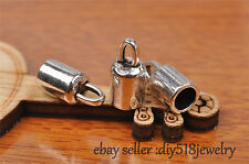 10pcs Charms Diy Bead End Cap Stopperhole Fit 5mm Cord Leather Necklace B7258