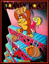 Donkey Kong POSTER Nintendo 1981 Video Arcade Game Mario Rare Large
