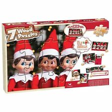 Elf on the Shelf Wooden Puzzles 7-Pack