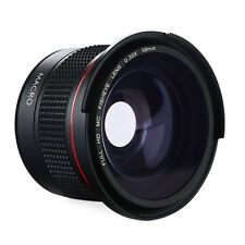 58MM 0.35X Super Fisheye Wide Angle Lens Macro for Canon Rebel T6i T5i T3i T2i
