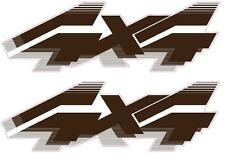 1992 - 1996 4x4 Decals for Ford F-Series F250 F350 Truck / Bronco Bedside Brown