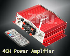 Power 160W 4CH CHANNEL AUDIO STEREO FOR iPOD MOTOR HOME CAR FM MP3 AMPLIFIER AMP