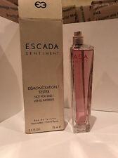 ESCADA SENTIMENT BY ESCADA FOR WOMEN 2.5 OZ.EDT.SPRAY Damaged TESTER BOX 90%full