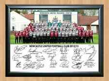 Newcastle United Football Squad Team NUFC Cisse Signed Autograph Photo Print A4