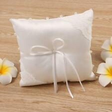 New Small Satin Bowknot Wedding Party Pocket Ring Pillow Pearl CushionTrendy