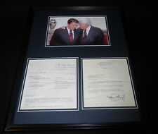 Tip O'Neill Signed Framed 16x20 Typed Letter, Beer Roast Recipe & Photo Display