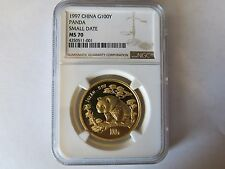 1997 1oz Gold Panda NGC MS70 Small Date China Chinese Panda Coin