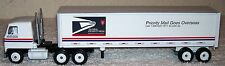 "ERTL Diecast White USPS PRIORITY MAIL GOES OVERSEAS 9.5"" TRACTOR TRAILER TRUCK"