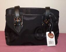 Etienne Aigner Black Weekender III Collection Handbag Purse