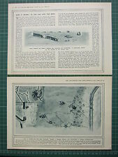 1915 WWI WW1 PRINT HOW IT WORKS THE SAP & THE MINE UNDER ENEMY TRENCHES 2 PAGES