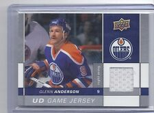 09-10 2009-10 UPPER DECK GLENN ANDERSON UD GAME JERSEY SERIES ONE GJ2-GA OILERS