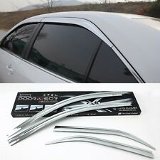 Chrome Window Visor Sun Guard Wind Rain Shield For Toyota Camry 2012~2014