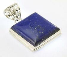 LAPIS LAZULI PENDANT 925 STERLING SILVER ARTISAN JEWELRY COLLECTION Y138B