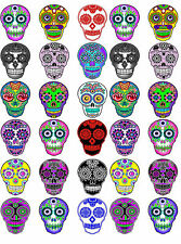 Day of the Dead Halloween 30 sugar skull stickers scrapbooking crafts set 6