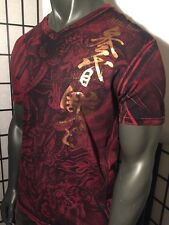 AFFLICTION HORIYOSHI LARGE HEROES & DEMONS,IREZUMI,TATTOO SHIRT,MMA,SUIKODEN