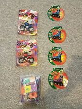 Lot of 7 EXTREME SPORTS TOYS-4 ROLLER BLADES,  2 FINGER MOTORCYCLE 1 X STUNT SET
