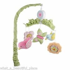 Jill McDonald Lullaby Breeze Girl's Crib Musical Mobile Pink Blue Bird Butterfly