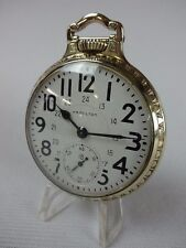 "Hamilton Railroad Watch, 992B. 21J. 16 Size, 24 Hr. Dial, ""Running Strong"" L@@K"