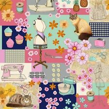 1 yd Home Sweet Home Cotton Quilt Fabric RJR Dan Morris  Sewing Patchwork BFab
