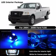 7PCS Extra Blue Interior LED Bulbs 2004 - 2008 Ford F150 F-150 White for License