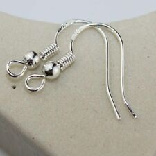 50 Pcs 925 Sterling Silver 19mm French Wire Ear Hooks