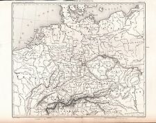 1859 DUVOTENAY MAP-GERMANY-GENERAL MAP OF GERMANY