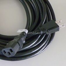 25ft Extra Long 16 gauge AC Power Cord Heavy Duty IEC320 Cable/Wire PC Desktop