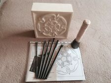 Stone Carving 'Tudor Rose'  Kit - 11 piece Full Set