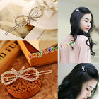 1Pcs Fashion Women Girls Crystal Rhinestone Butterfly Barrette Hair Clip Hairpin