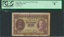 Hong Kong ND (1935) PCGS VG 8 1 Dollar *George V*