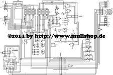 Schaltplan Plan Elektrik A3 ca. 30x40cm für IFA Multicar M25 mit Cunewalde Motor