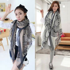 Korean Style Women Soft Voile Large Scarf Wrap Shawl Pashmina Stole Scarves Gift