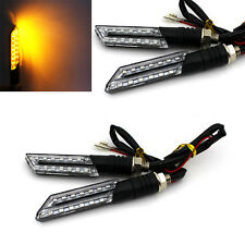 4X Amber 12V 15 LED Turn Signal Light Indicator Blinker Lamp For Most Motorcycle